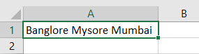 New Line in Excel Cell Method 1