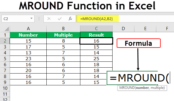 MROUND Function in Excel