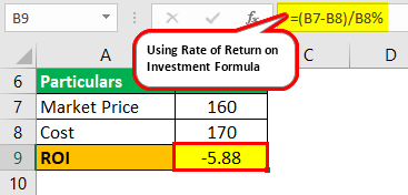 Rate of Return on Investment Example 1.1