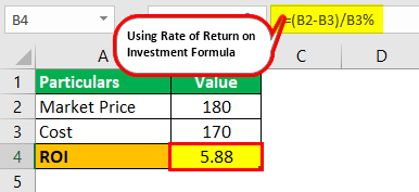 Rate of Return on Investment Example 1