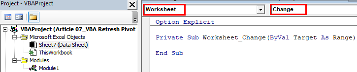 Refresh Pivot Tables Example 1-1