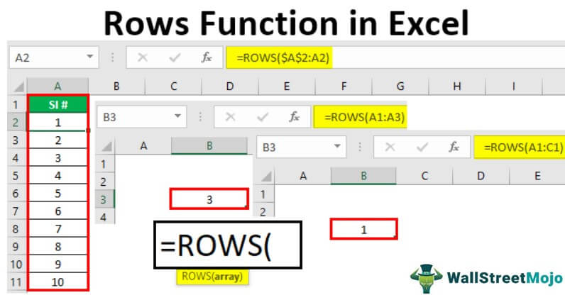 Rows Function in Excel