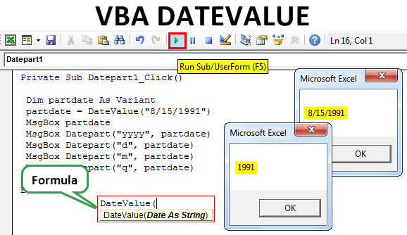 VBA DateValue