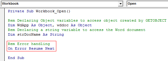 VBA GetObject Example 1-6