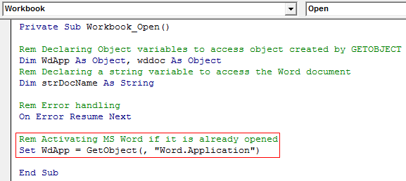 VBA GetObject Example 1-7