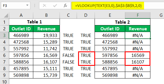 VLOOKUP for Text Example 2.10.0