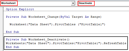 Worksheet Deactivate Event