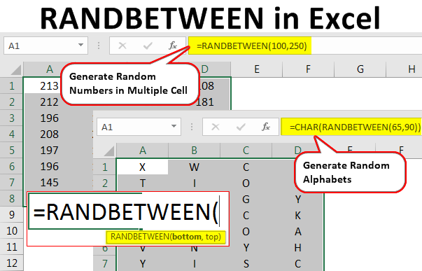 randbetween-in-excel