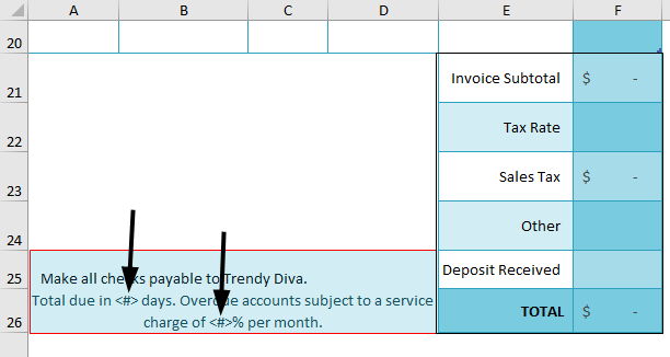 Blank invoice Template Example 1-10