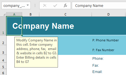 Blank invoice Template Example 1-4