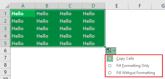 Drag and Drop in Excel Example 1-3