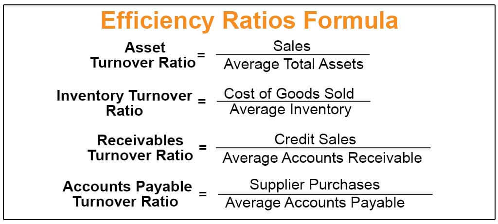 Efficiency Ratios Formula | Step by Step Calculations with ...