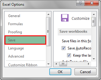 Enable Recover unsaved files tools step 3