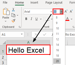Excel Formatting Text Example 1.4.0