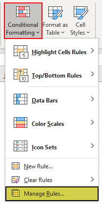 Excel Icon Sets Example 1-4