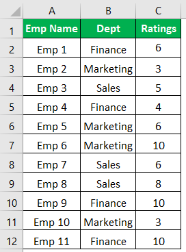Excel Icon Sets Example 1