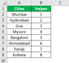 Excel Reverse Order Example 1.2