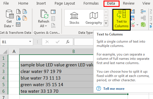 Extract data from pdf to excel Example 1-6