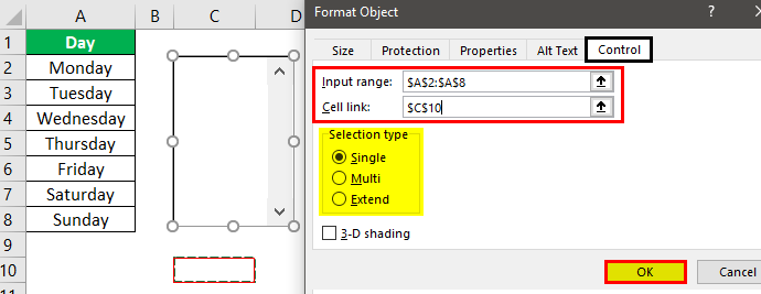 Form Controls in Excel Example 4.3.0