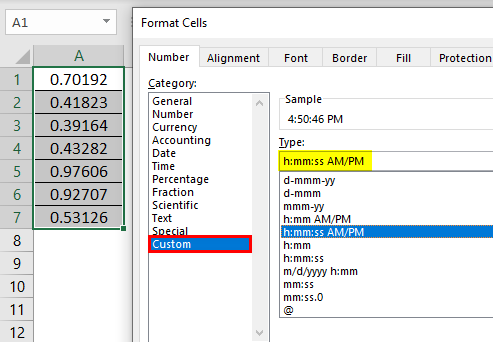 Format Cell in Excel Example 2.3.0