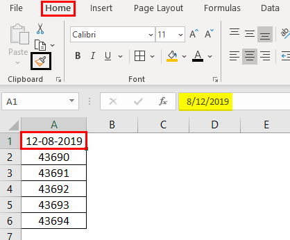 Format Cell in Excel Example 6.1.0