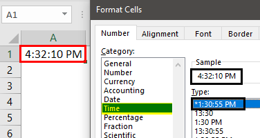 Formatting Time in Excel Example 1.14