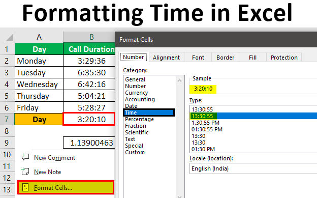 Formatting Time in Excel