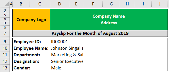 Pay Slip Template Example 1-2