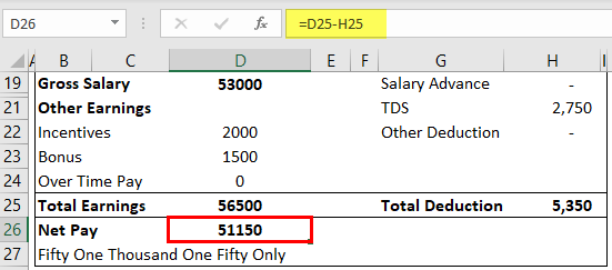 Payslip Template in Excel Example 1-8