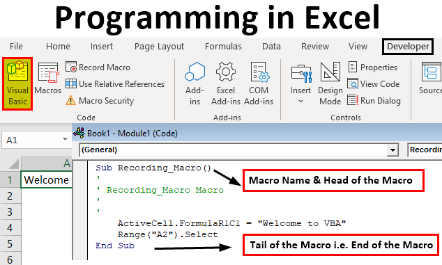 Programming in Excel