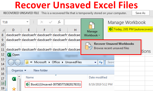 Recover Unsaved Excel Files