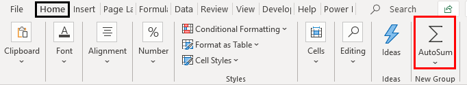 Ribbon in Excel Example 1.18