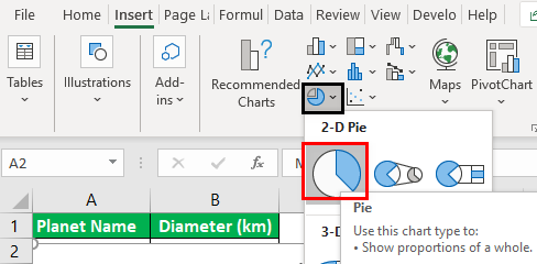 Rotate Pie Chart in Excel Example 1.3
