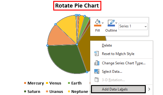 Rotate Pie Chart in Excel Example 1.5