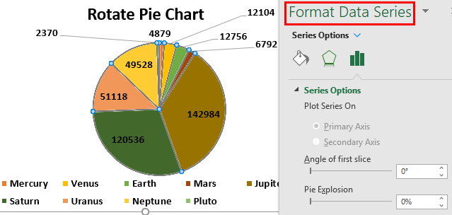 Rotate Pie Chart in Excel Example 1.8