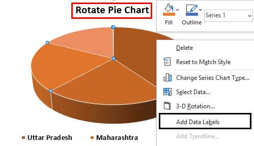 Rotate Pie Chart in Excel Example 2.4