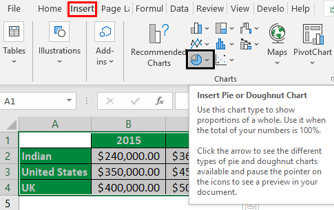Rotate Pie Chart in Excel Example 3.2