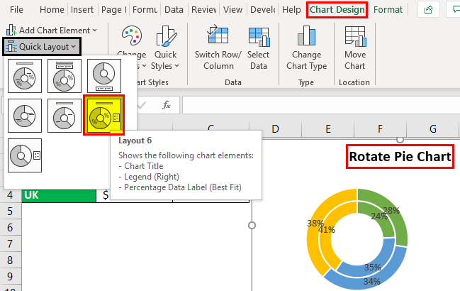 Rotate Pie Chart in Excel Example 3.4