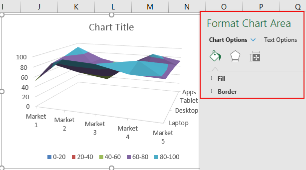 Surface Chart in Excel Example 1-5