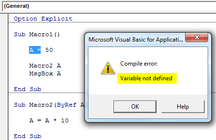 VBA ByRef Argument Error Solution 3.2