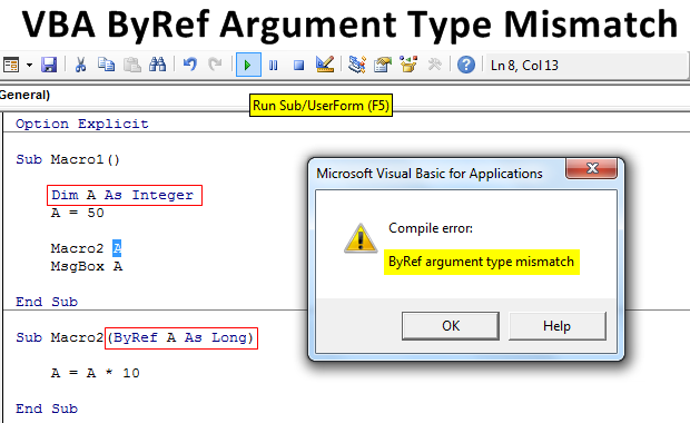 VBA-ByRef-Argument-Type-Mismatch