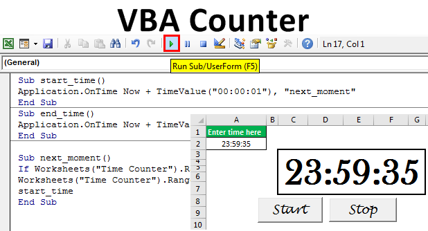 VBA Counter | How to Create Counter in Excel VBA? (with ...