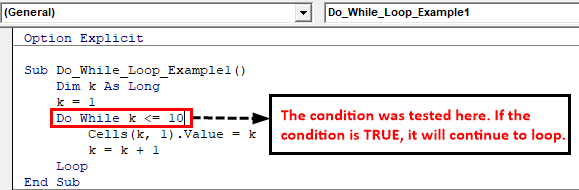 VBA Do Loop Example 1