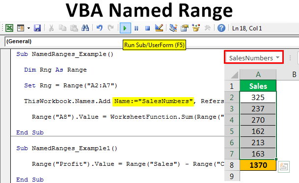 VBA Named Range | How to Create and Use Named Ranges in Excel?