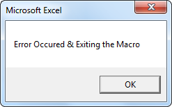 VBA On Error GoTo Example 3-3