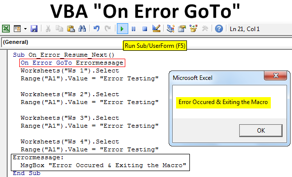 VBA On Error GoTo