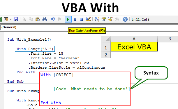 VBA With | How to Use With   End With Statement in Excel VBA?