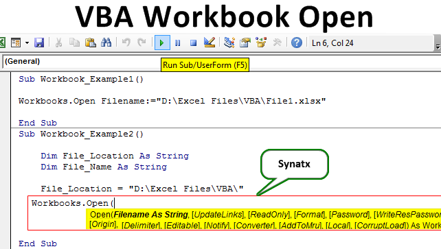 VBA WorkBook Open | How to Open Excel with Workbooks.Open ...