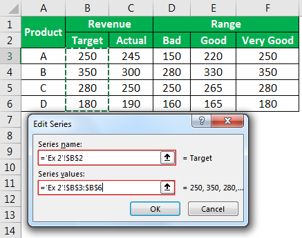 Target Value Example 2-13