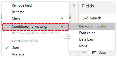 Choose Conditional formatting